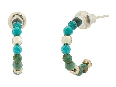Kendra Scott Scarlet Huggie Earrings (Gold Turquoise) Earring