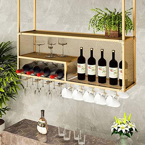 Weinregale weinglashalter hängendes Regal Weinflaschenhalter Dekor Deckenregale Schwimmende Weingläser Stemware Lagerung Retro Home Decor Bar Regale