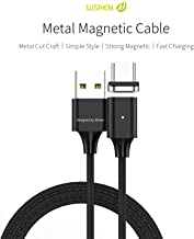 Wsken X2 USB C Cable Android Charger Magnetic Fast Charging 3ft Charge Cord for Samsung Galaxy S10 S9 S8 Note 9, Pixel, LG V30 G6, OnePlus 5 3T, MacBook, Nintendo Switch, Gopro 6/5 (Black)
