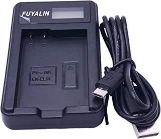 EN-EL14 Cargador de Batería para Nikon D3100 D3200 D3300 D3400 D3500 D5100 D5200