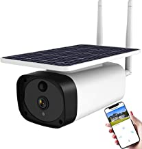 Wireless Solar Powered Security Camera Outdoor,WiFi Smart Home Security Camera with Rechargeable Battery,ENSTER 1080P Wate...