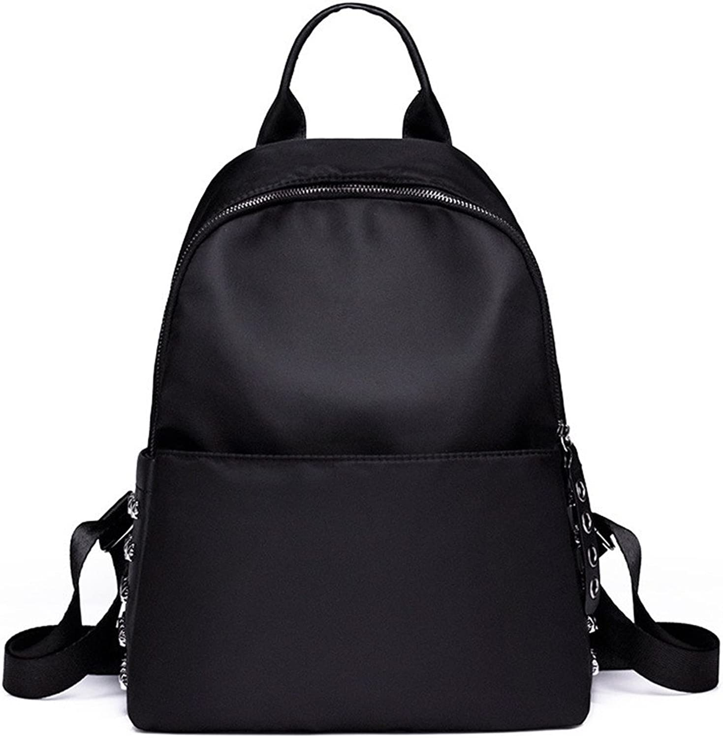 Zhrui Backpack Women School Travel Work Backpack Bag for Girls Casual Fashion with Rivet (color   Black, Size   One Size)