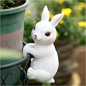 Bunny Statues Garden Decor, Fairy Garden Accessories, Miniature Figurines Patio Yard Art Sculpture Lawn Ornament Outdoor and Home Decoration Collections Gift (Bunny Statue)