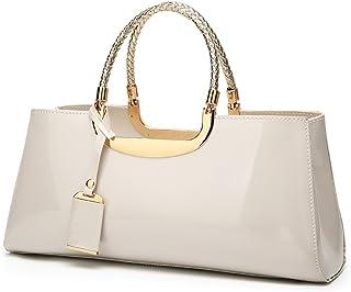 Coolives Damen Handtasche Tasche aus PU-Lackleder Henkeltasche Abendtasche Schultertasche Umhängetasche für die Hochzeit C...