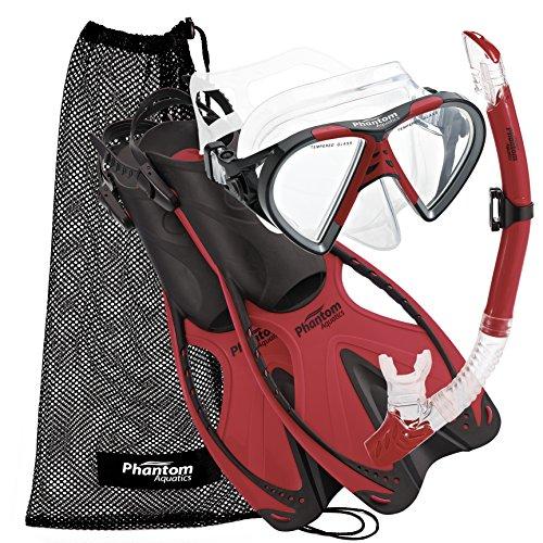 Phantom Aquatics Adult Speed Sport Mask Fin Snorkel Set