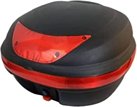 MMG Motorcycle Scooter Top Box Tail Trunk Luggage Box, 29 Lt Capacity, Can Store 1 Helmet (997)
