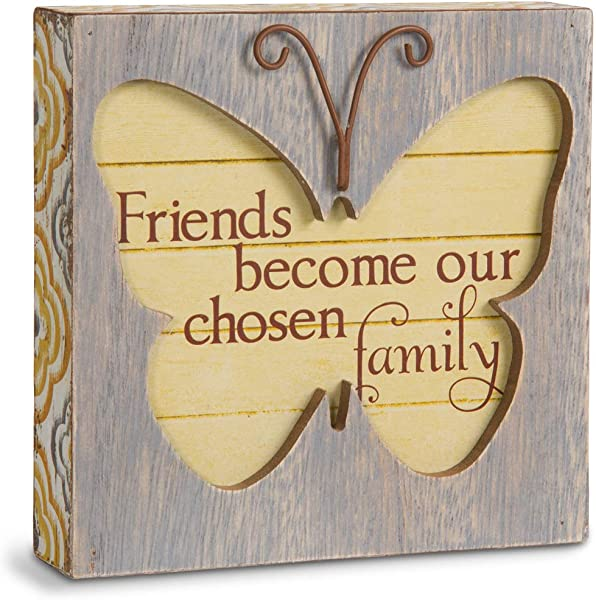 Pavilion Gift Company Simple Spirits 41085 Friend Butterfly Plaque 4 1 2