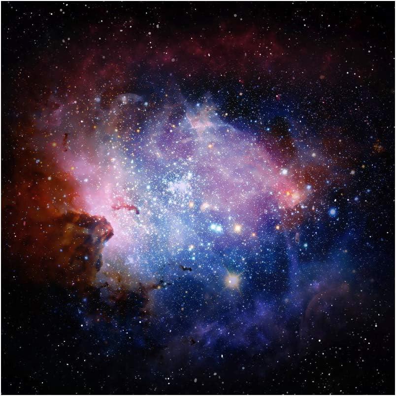 CSFOTO 10x8ft Starry Sky Backdrop Glitter Stars Universe Nebula Cosmic Galaxy Photography Background Space Party Photo Booth Banner Kids Adults Portrait Photo Shoot Wallpaper