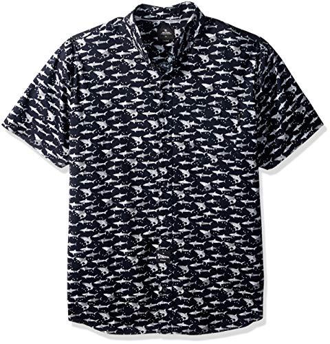 Rip Curl Hombre Manga corta Camisa de botones - Negro - Smal
