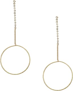 GUESS - Dainty Ring on Stone Chain Linear Earrings
