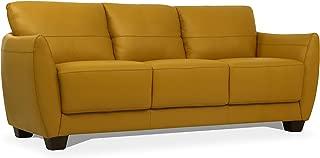 ACME Furniture Valeria Sofa, Mustard Leather
