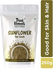 True Elements Raw Sunflower Seeds for Eating 250gm - Protein and Vitamin Rich Seeds