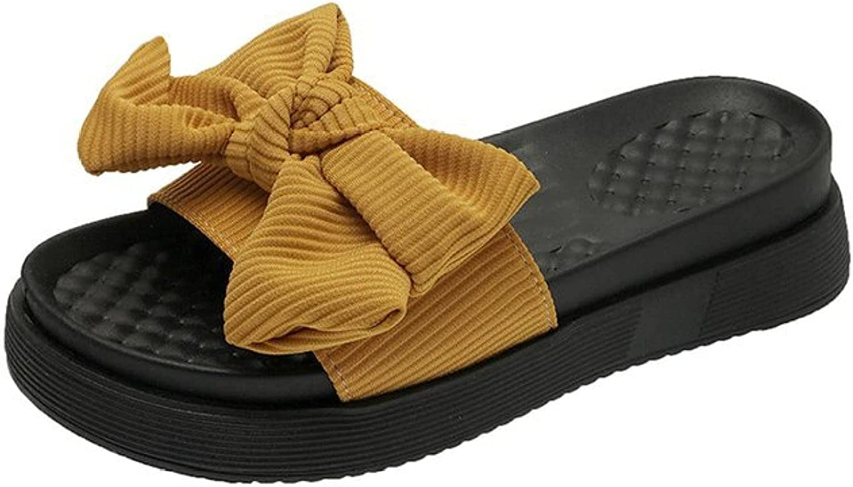 Women Platform Slipper Sandals Peep Toe Casual Beach Multicolor Fashion Bowknot Evening Dress Slides Sandal