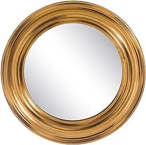 Espejo Redondo de Madera Dorado clásico para salón de 52 cm Bretaña - LOLAhome