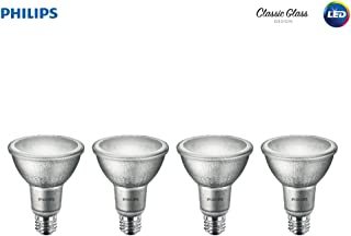Philips LED Indoor/Outdoor Classic Glass Dimmable PAR30L 40-Degree Spot Light Bulb: 850-Lumen, 3000-Kelvin, 10-Watt (75-Watt Equivalent), E26 Base, Bright White, 4-Pack