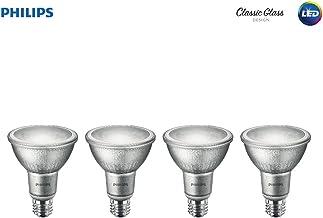 Philips LED Indoor/Outdoor Classic Glass Dimmable PAR30L 40-Degree Spot Light Bulb: 850-Lumen, 3000-Kelvin, 10-Watt (75-Watt Equivalent), E26 Base, Bright White, 4-Pack