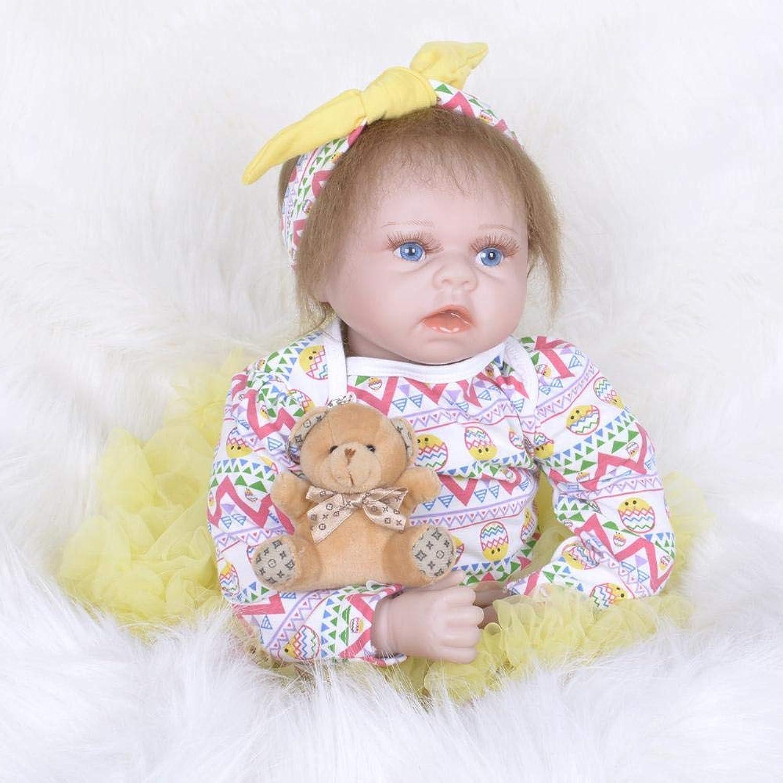 Hongge Reborn Baby Doll,Lebensechte Silikon Reborn Puppe Spielzeug Weihnachten Geburtstag Geschenk 55cm B07HKQ3LHF Angenehmes Aussehen  | Elegantes und robustes Menü