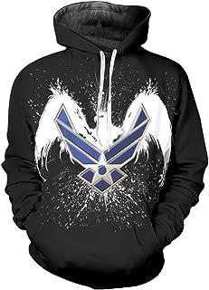 nordic runes Mens Womens Us Air Force Sweatshirt Cool Hoodies Pullover with Designs,Black