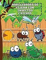 Habilidades de Tijera con Insectos y Bichos: Un divertido cuaderno de prácticas de recorte con bichos para niños Libro de actividades de preescolar a primer grado con mariposas, orugas, grillos y hormigas