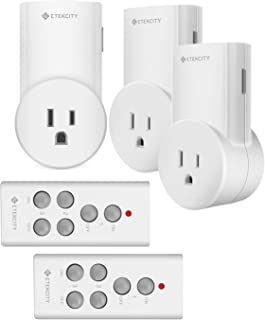 Etekcity Remote Control Outlet Kit Wireless Light Switch for Household Appliances,..