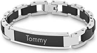 Personalized Black Matte Boys ID Bracelet with Engraving Included