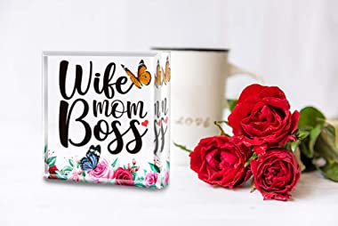 Hohomark Mothers Day Gifts for Wife from Husband,Gifts for Wife Mom from Daughter Son,Keepsake and Paperweight,Wife Birthday