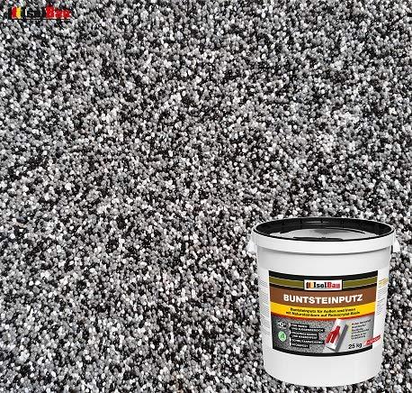 Buntsteinputz Mosaikputz BP30 (schwarz, grau, weiss) 25kg Absolute ProfiQualität