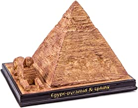Living Room Decorative Sculpture, Egyptian Pyramids Statue, Resin Abstract Home Decoration Figurine, Suitable For Living Room, Bedroom, Office, (13.2 X 16.8 X 12 Cm)
