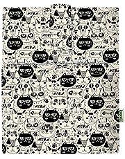 Book Sleeve Cover – Funda rígida para libro de libros electrónicos para Paperback, Washable Fabric, Book Protector- Padded, Tablet PC Case Cover for Adult (Black Cat)