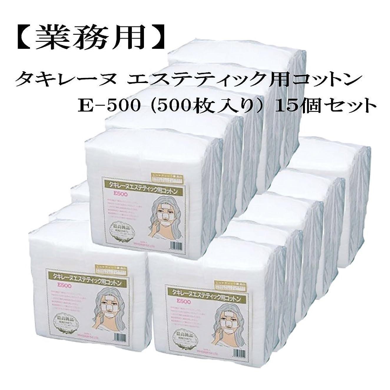 見えない夕食を食べるあごタキレーヌ エステティック用コットン E-500 500枚入 15個セット 業務用