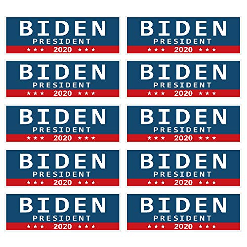 PACETAP Biden for President 2020 Stickers, 10 PCS 10 PCS 9 X 3 Inch Car Truck Bumper Stickers for Joe Biden Supporters