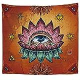 OTIAN Wandteppich Mandala Polyester Tapisserie Böhmen Wandbehang Kreative Augenmuster Strandtuch Wohnzimmer Dekor