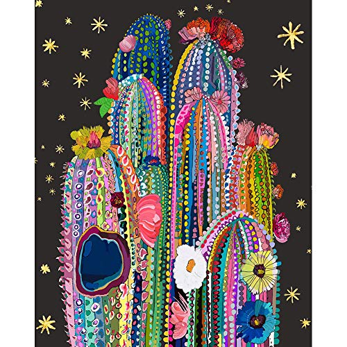 DIY 5D Diamond Painting Kits for Adult Flowers, Casual Digital Painting Full Drill Combination- Arts and Crafts Indoor Wall Decorations (Color Cactus-B062)