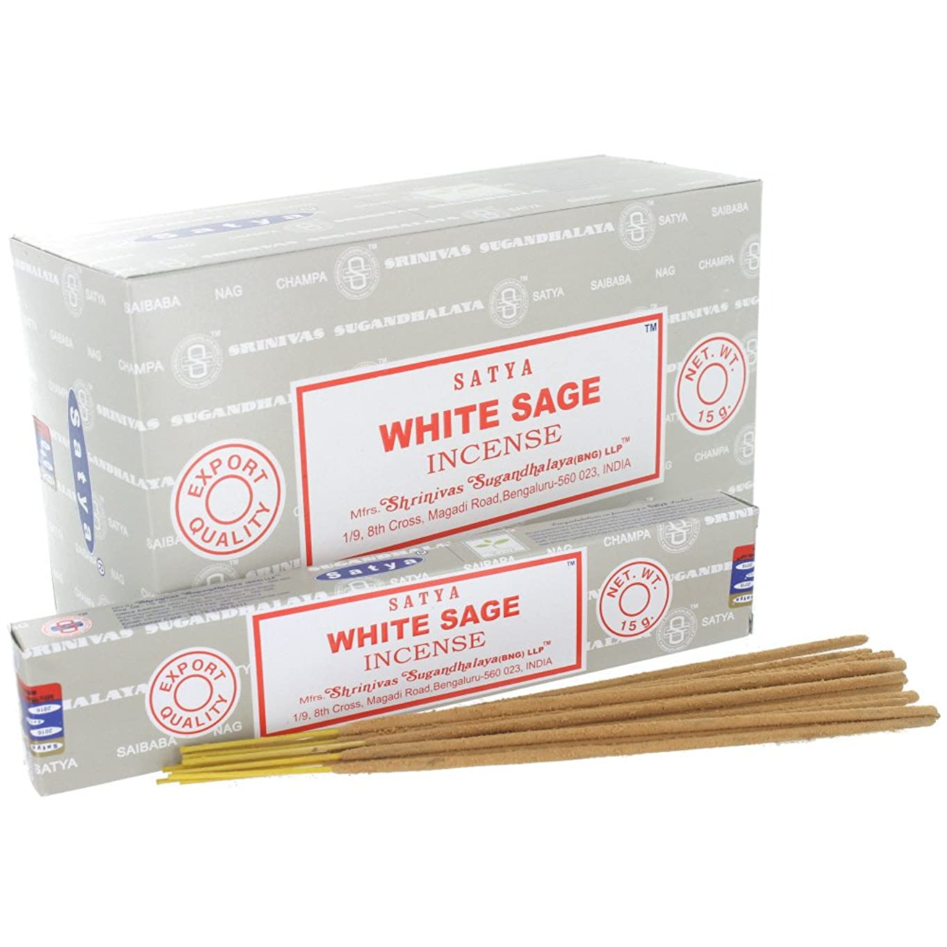 教育する不振ムスタチオSatya White Sage Incense Sticks (Box) 15g X 12 = 180g