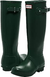 Hunter Womens Original Tall Gloss Boot Original Tall Gloss Boot Green Size: 7