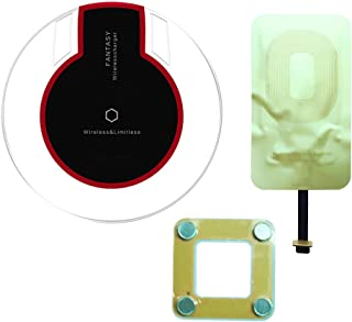 IGOUKJ Wireless Charger for iphone 8 8 plus X for Samsung S6 S7 S8 S8 Plus Kit Include Fantasy Qi Wireless Charger Pad and Qi Wireless Charging Receiver Patch Module (charger kit android receiver)