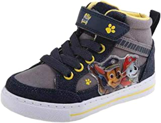Paw Patrol Chase & Marshall Boys Hi Top Sneaker Shoes