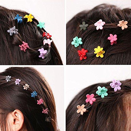 Bdrsjdsb 30 Pcs Enfants Bébé Fleur Colorée en Plastique Filles Épingles À Cheveux Mini Pinces À Cheveux Griffe Tondeuses À Cheveux
