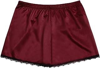 Oldlover✚ Pajamas Shorts for Women Summer Soft Satin Shorts Lace Trim Pjs Shorts Lightweight Lounge Terry Pajama Short