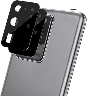 [قطعتان] واقي عدسات الكاميرا OEAGO لهاتف Samsung Galaxy S20 Ultra واقي الشاشة من الزجاج المقسى، سهل التركيب صلابة 9H HD- أسود