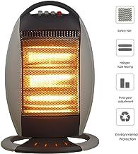 KOKIN Calefactores y radiadores halógenos eléctrico Estufa halógena Calor Halógeno 1200W (3 Control de Temperatura, Funcion Ventilador, Proteccion sobrecalentamiento, Anti-vuelco)