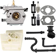 Kuupo WT-194 MS260 Carburetor with Air Filter Tune Up Kit for Stihl 024 026 MS240 MS260 Chainsaw 1121 120 0611 Tillotson HU-136A