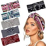 VAMEI 6 Pezzi Fascia Capelli Donna delle donne elastiche Modern Style Vintage Turbante fasce ritorto bandana Knot fascia capelli Wraps Accessori per Capelli