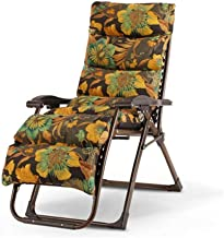 High-quality recliner Deckchair Sun Lounger Comfortable Zero Gravity Chaise Lounges, Patio Lounger Chair Outdoor Folding Adjustable Recliner, Beach Camping Portable Chair with Cushions (Color : E)