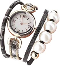 TYPIFY ® Women's Black and Multicolor Band White Dial Bracelet Analogue Watch