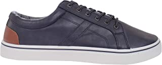 Duke D555 Mens Zenon Wide Fit Lace Up Casual Low Rise Trainers - Navy - 12