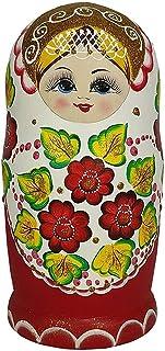 روسي التعشيش دمية الأحمر زهرة والأخضر ورقة الأميرة التقليدية matryoshka للأطفال لعبة الديكور المنزل هدية عيد