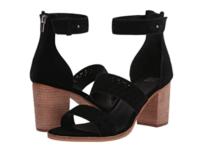 FRYE AND CO. Bryn Perf Sandal (Black Suede) High Heels