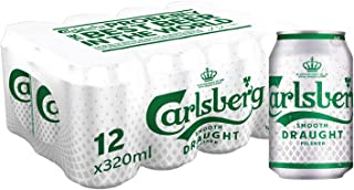 CARLSBERG Smooth Draught Beer Can, 320 ml (Pack of 12)