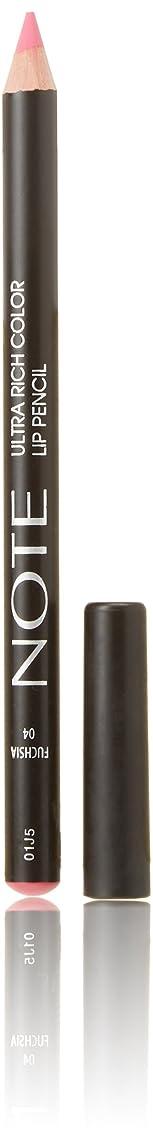 ストレンジャーリマークエゴイズムNOTE Cosmetics ウルトラリッチ色リップペンシル、0.04オンス 第04